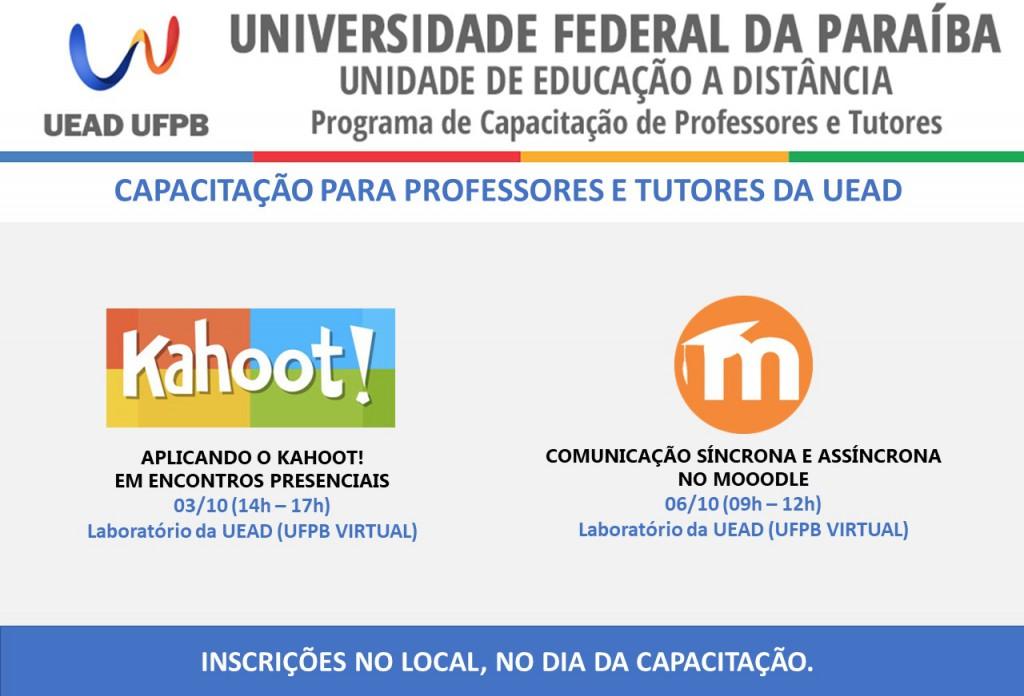 Capacitações UFPB Virtual - OUTUBRO