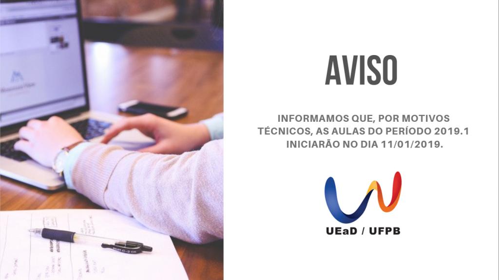 AVISO - UFPB VIRTUAL